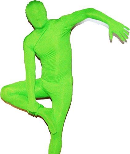 Grüne Morphsuits - Catsuit Ganzkörperkostüm in Grün Größe: