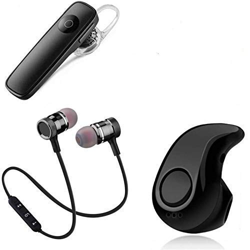 A Plus Combo Blutooth HeadphoneWireless Music Earphone & Bluetooth Headset/Headphone with Mic (Combo Pack of 3- Kaju BT, Magnet BT, K1 BT) Supported Also All Android Devices.