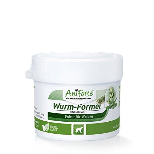 AniForte Wurm-Formel 20 g für Welpen, Speziell für Welpen ab der 6. Woche, praktische und 100 Prozent natürliche Einmalgabe bei und nach chemischer Wurmkur