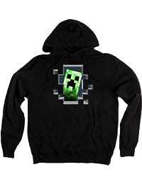 Minecraft - Sweat-shirt à capuche -  Homme Noir Noir
