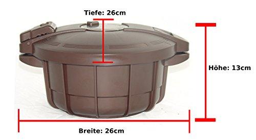 Smart Cooker Schnellkochtopf f. die Mikrowelle m. Dämpfeinsatz Kochtopf Ø 18,5cm - 4