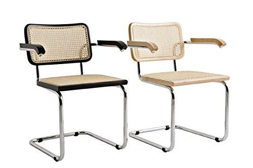CESCA Sedia ABS in Paglia di Vienna Design di Marcel Breuer