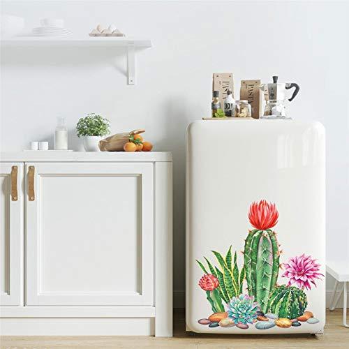 LELTWS Wandaufkleber Persönliche Grünpflanze Kaktus Wandtattoo Schlafzimmer Wohnzimmer Dekoration Kunst Aufkleber Wand Fenster Aufkleber Z0402# D20