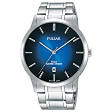 Pulsar Herren Analog Quarz Uhr mit Edelstahl Armband PS9527X1