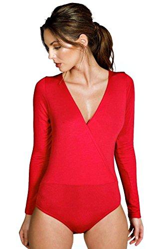 rouge Amy Body Classique Cache-cœur Rouge