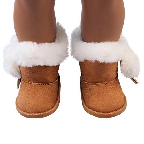 Schuhe 45,7cm, günstige American Girl Dolls Snow Stiefel vneirw, coffee (Wirklich Günstige Perücken)