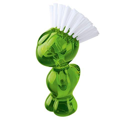Koziol 5029588 Tweetie Gemüsebürste, Kunststoff, transparent olivgrün, 7 x 6.6 x 12.9 cm