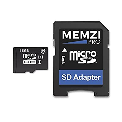 Memzi Pro 16Go Classe 1090Mo/s Carte Mémoire Micro SDHC avec Adaptateur SD pour Tomtom GO ou Go Live Sat NAV pour Femme par MEMZI - Carte Mémoire
