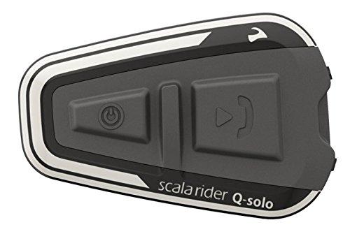 Scala Rider q-solo Bluetooth Motorrad Headset, das unentbehrliche Communicator für das Lone Rider, NEU für 2017