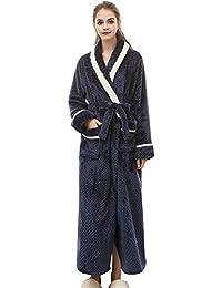 1f743b6f35da99 Aibayleef Accappatoio in Spugna per Uomo e Donna Bathrobe Coperta Flanella  Vestaglie Adulto Caldo Pigiama Kimono