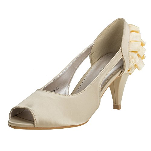 Damen Schuhe, LP-00B21, PUMPS Champagner LP-00B9-