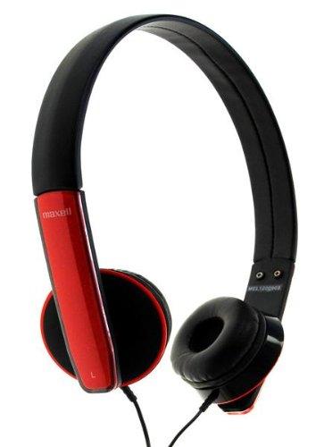 Maxell HP-Mic Kopfhörer mit Mikrofon rot -