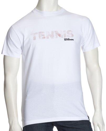 Wilson Herren T-Shirt Tennis Weiß