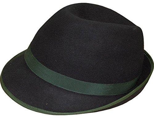Faustmann Damen Wollhut Tina Garnitur in verschiedenen Ausführungen, Hutgröße:56;Farbe:tanne