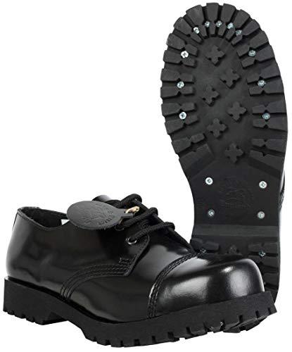 Boots & Braces - 3 Loch Schuhe Rangers Schwarz Größe 43 (UK9)
