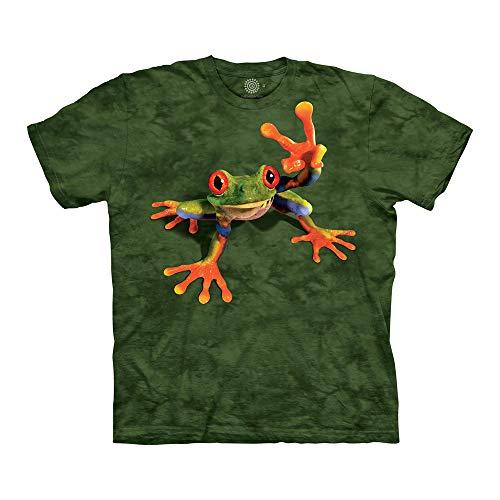 The Mountain Unisex-Erwachsene Victory Frog T-Shirt, grün, 4X-Groß