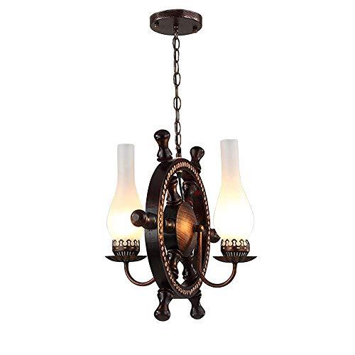 M-zmds Edison 2 Lights Chandelier Pendelleuchte Celling Lighting Fixture mit nautischem Vase aus Mattglas, verwenden Sie eine E26 / E27-Glühlampe in Bronze-Finish