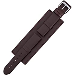 Eichmüller 539 - 22 Watch Strap, Leather, black