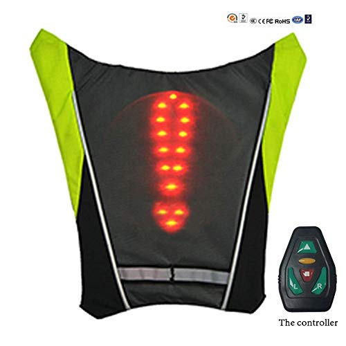Indikator-lampe (Airmood Bib Vest LED-Indikator, Rucksack-Safe-Indikator-Lampe, Adjustable Rips Security Flashing Light, mit Wireless Remote Control für Bike Motorcycle Jogger Walker)