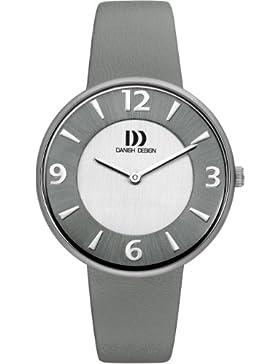 Danish Design-DZ120196 Damen-Armbanduhr Lolla Quarz analog Leder grau