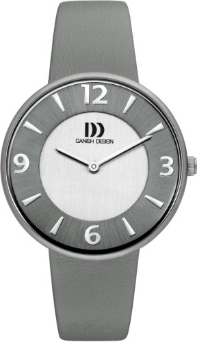 Danish Design Women's Quartz Watch with Grey Dial Analogue Display and Grey Leather Strap DZ120196