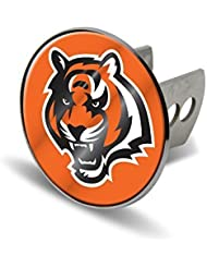 NFL Cincinnati Bengals Laser Cut Metal Hitch Cover, Large, Silver by Rico