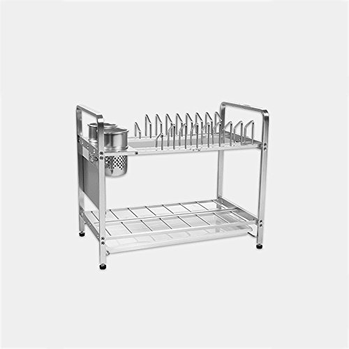 Aluminium-Material Küche Multifunktions-Regal Dish-Racks Doppel-Regal Abfluss-Rack Küche Lagerung Leckage Regal ( Size : A )