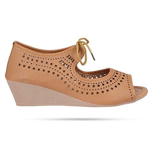 Perfect CHOICE Stylish & Fashionable Peeptoes Sandals for Women & Girl - (38, Biege)