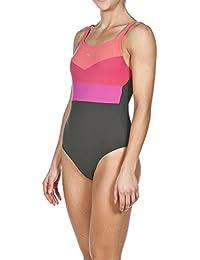 Arena Mujer Body Lift Audrey–Bañador, mujer, Bodylift Badeanzug Audrey, Ash Grey/ Teaberry, 50 [DE 48]
