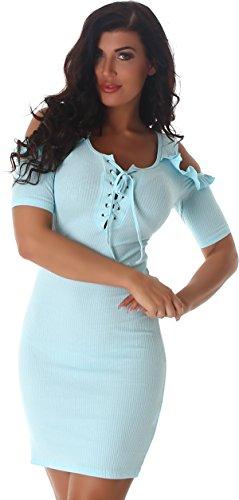 Kleid hellblau damen
