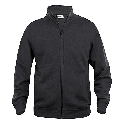 Felpa cardigan uomo taglie forti full-zip no maxfort CQ021038 - Nero, L