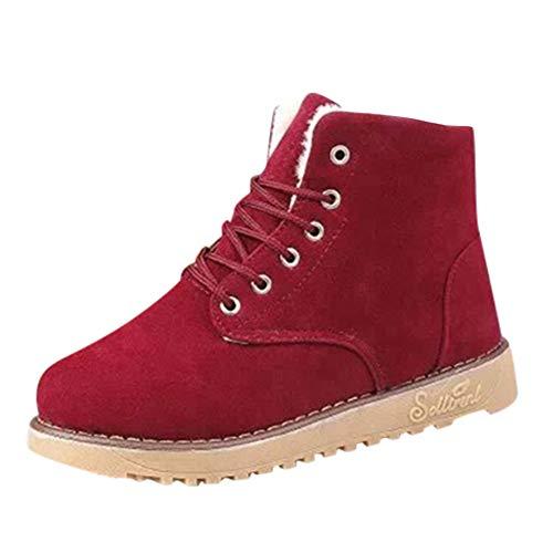 Winterschuhe Damen Stiefeletten Stiefel Outdoor Worker Boots Gefüttert -
