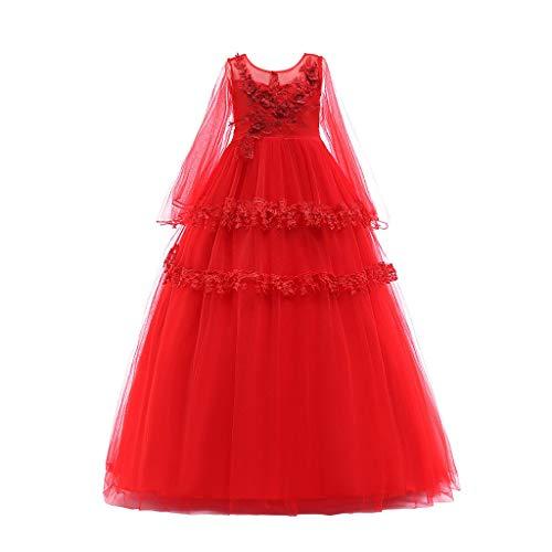 sunnymi  ® 3-8 Jahre Baby Kleider Mädchen Spitzen Bowknot Hochzeits Leistung Formales Tutu Prinzessin Kleidung