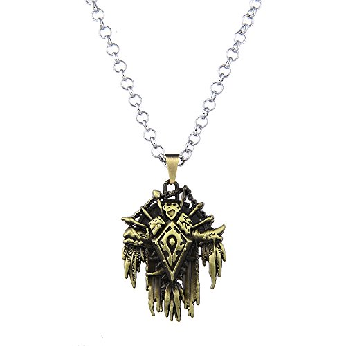 uck World of Warcraft Horde Signs Pendant Halskette for WOW Fans-Bronze (nl005615-1) (World Of Warcraft Halloween)