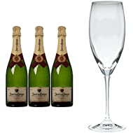 Juve y Camps Cinta Purpura Brut Reserva 2011 Wine 75 cl (Case of 3) and Riedel Vinum Cuvee Prestige Set of 2 Glasses
