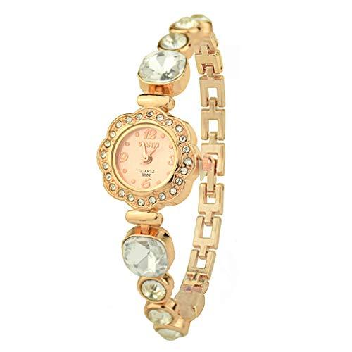VECOLE Armbanduhr Damenmode Strass Inlay Kleines Zifferblatt Armband Uhren Geschenk für Frauen Quarz Analoganzeige Uhr(klar) - Damen Diamanten Ebel Uhren