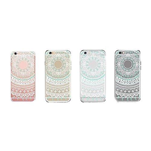Japace® Klarsicht Transparent Hard Case Back Cover Schale Zubehör für Apple iPhone 6 4.7 Zoll Durchsichtige Handytasche Handyhülle Schutz Hülle Etui Tasche mit Muster Weinglas Muster 2
