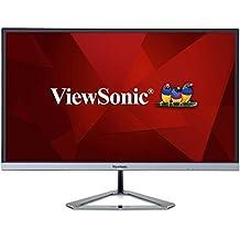 "ViewSonic VX2276-SMHD - Monitor 21,5"" Full HD IPS (1920 x 1080, 4ms, 250 nits, 178°/178°, VGA/HDMI/DP, altavoces, sin marco), color negro/plata"