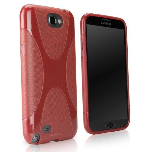 BoxWave Bodysuit Schutzhülle Samsung Galaxy Note 2II-Premium Strukturierte TPU Gel Haut Galaxy Note 2II Fall-Samsung Galaxy Note 2II N7100Fällen und Abdeckungen (Scarlet Rot)