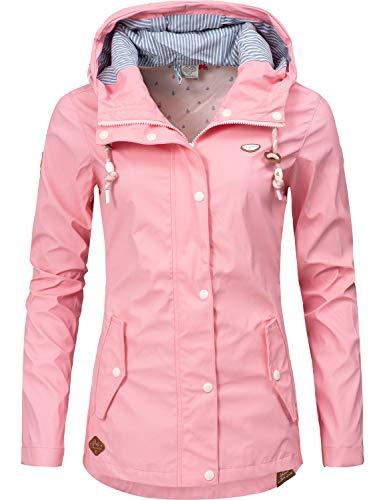 Ragwear Damen Übergangs-Jacke Outdoorjacke Regenmantel YM-Marge Pink019 Gr. S