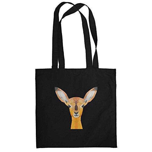 Texlab–Poly Oh My Deer–sacchetto di stoffa Nero