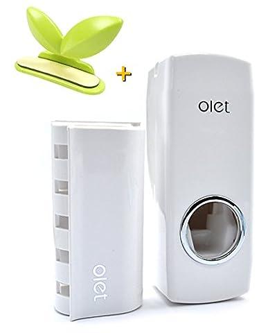 Distributeur automatique de dentifrice pour famille, 5 Brosse à dents Holder-dentifrice Squeezer Lot de WC + Coque