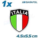 1x Italien old school Emblem (Nr.033) Sticker Aufkleber Adesivo Italia 4,5x5,5 cm