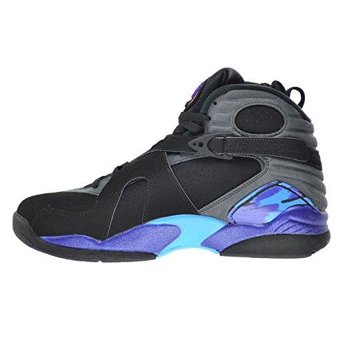 Nike Herren Air Jordan 8 Retro Turnschuhe, 44.5 EU blk/tr rd-flnt gry-brght cncrd