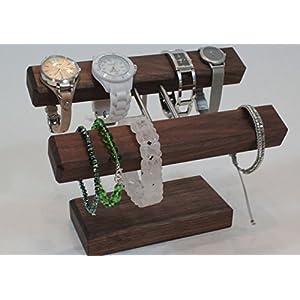 Uhrenhalter Armbandhalter Schmuckhalter Schmuckständer Handarbeit Nussbaumholz.