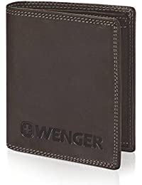 Wenger Wallet Upright Leather 10,5 cm with tri-fold Slot and Zipper compartment
