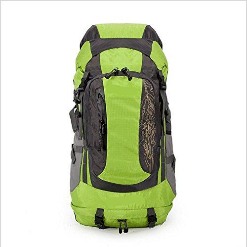 Xiuxiandianju 56-75L viaggio zaino outdoor escursionismo grande borsa zaino outdoor , black green