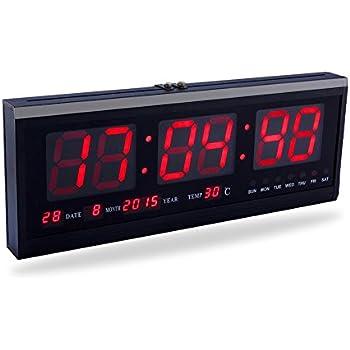 Yosoo Große Digital LED Uhr mit der Kalender Datum und