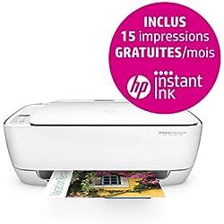 HP Deskjet 3636 Imprimante Multifonction jet d'encre couleur (8,5ppm, 1200 x 1200 ppp, USB, Wifi, Instant Ink)