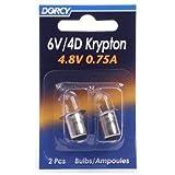 DORCY Armatur läuft/4d-4.8-volt, 0,75A Bajonett Sockel Krypton Glühbirne, Ersatz 2er Pack (41–1663)